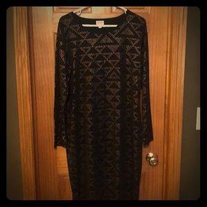 Lularoe Debbie L/S Dress - Geometric Pattern